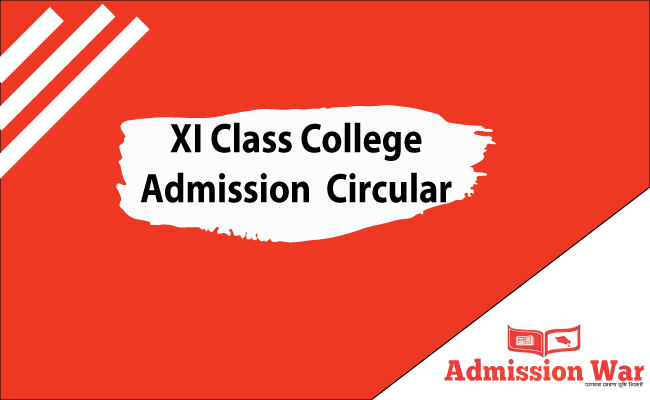 XI Class Admission college 2019 Circular