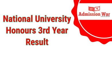 Photo of NU Honours 3rd year Result 2020 (With Marksheet)