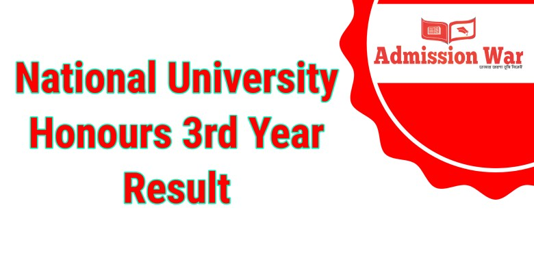 honours 3rd year result
