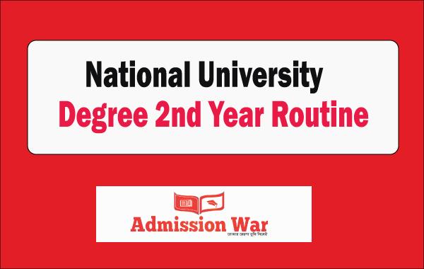 NU Degree 2nd Year Routine 2019