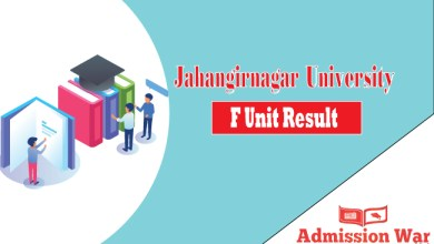 Jahangirnagar University F Unit Result 2019-20