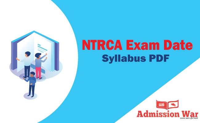 NTRCA Exam Date & Exam Syllabus PDF