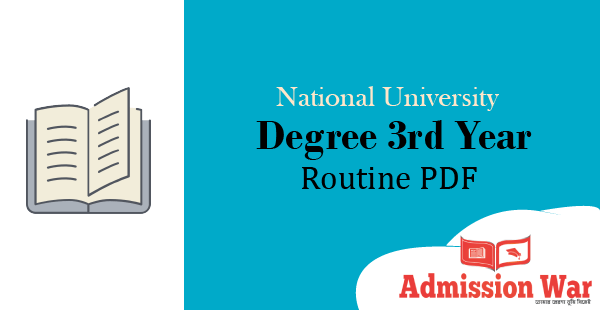 degree 3rd year routine