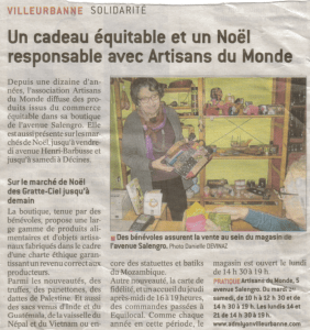 Article Le Progres 10122015 ADM Villeurbanne