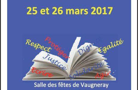 Foire aux livres de Vaugneray – 25 et 26 mars 2017