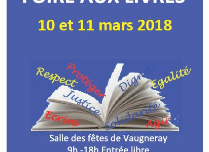 Foire aux livres Amnesty International le 10 et 11 mars