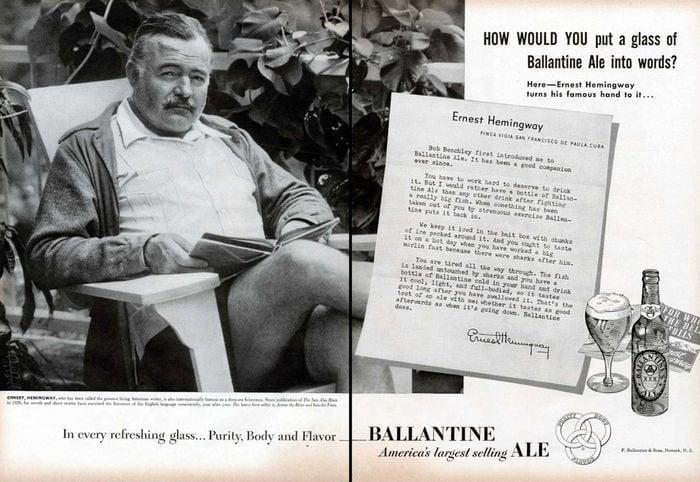 Hemingway ballantine Ale