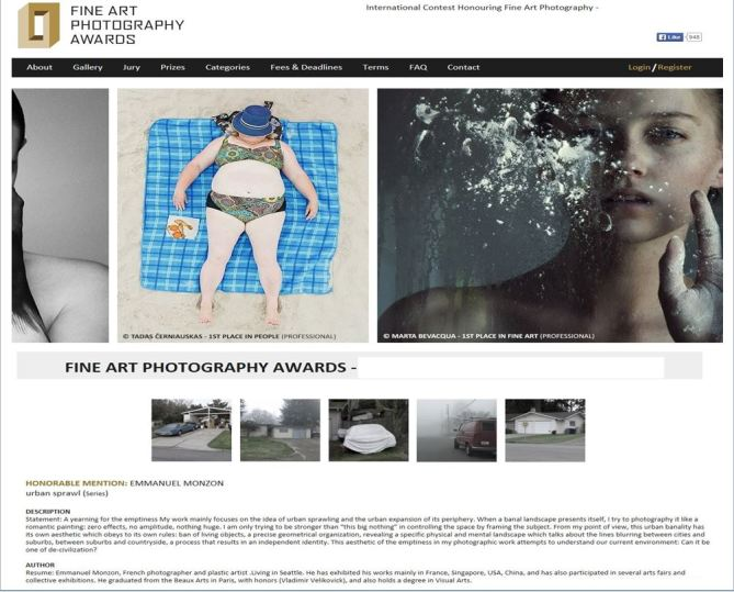 HONORABLE MENTION FINE ART PHOTOGRAPHY AWARDS 2014/2015