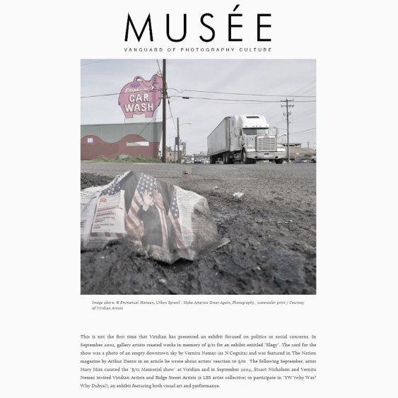 PUBLICATION: MUSEE MAGAZINE