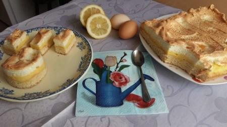 Tartă cu lămâie şi bezea