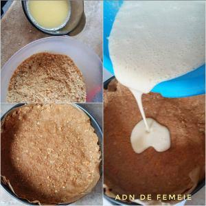 pregatire cheesecake la cuptor