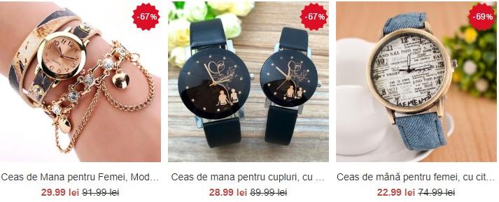 ceasuri de mana pentru femei