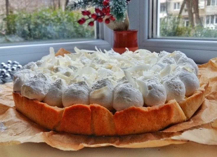 tarta cu crema de lamaie si cocos si fulgi