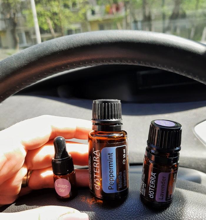 aromaterapie în mașină cu copiii