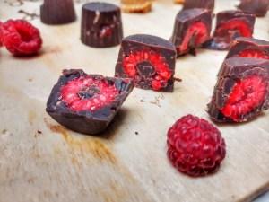 fructe trase în ciocolată