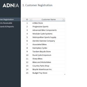 Accounts Receivable Dashboard Template - Customer Registration