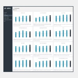 Yearly Financial Comparison Report Template - Cover