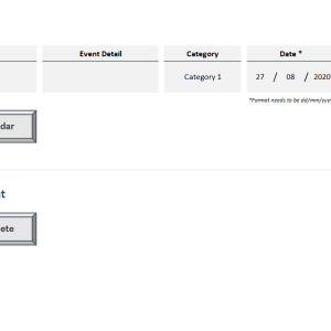 Automated Monthly Schedule Template Excel - Add Delete Event