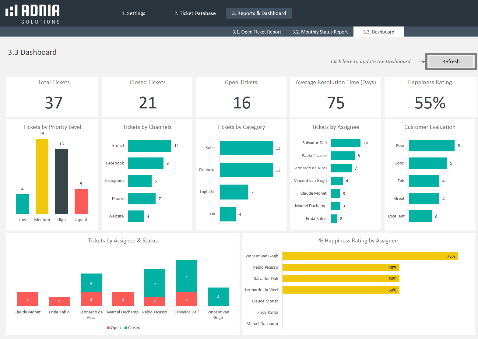 Demo - Issue Tracking Excel Template
