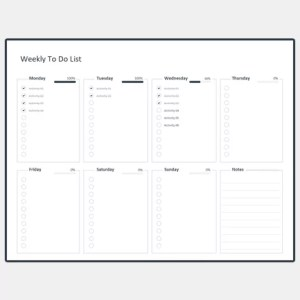 Free Weekly To Do List Template Excel