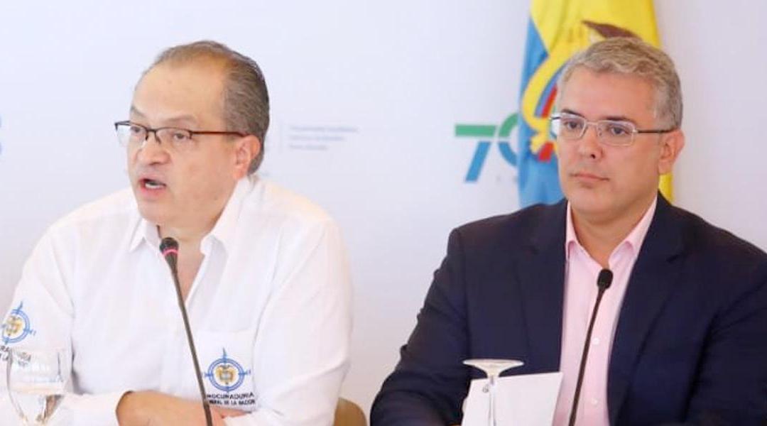Presidente de la república Ivan Duque y Procurador Fernando Carrillo enfrentados en medio de paro nacional