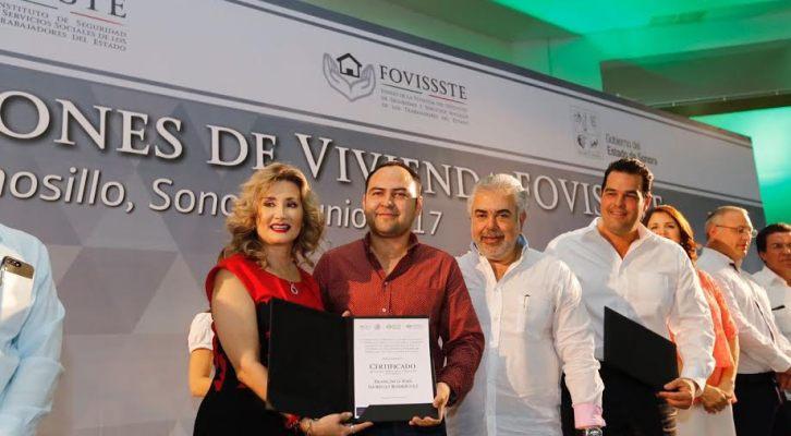 Fovissste entregó 262 acciones de vivienda para derechohabientes de Sonora (19:30 h)