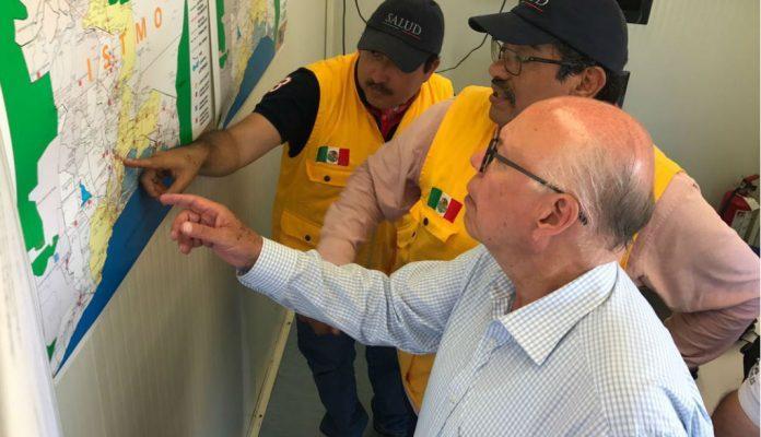 Narro recorre municipios oaxaqueños que resintieron sismos del sábado (17:00 h