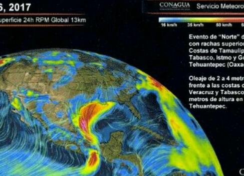 """Efecto """"Norte"""" afectará Oaxaca (21:00 h)"""