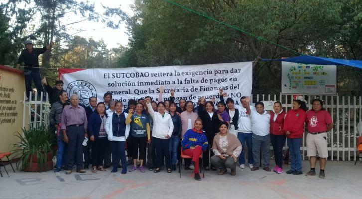 Dejan sindicalizados sin clases a mil estudiantes del COBAO en Huajuapan (15:30 h)