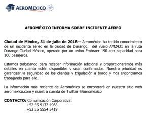 aeromex comunicado