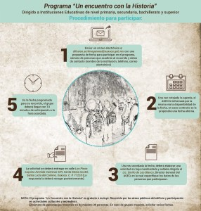 Invita AGEO a instituciones educativas a participar en Un encuentro con la Historia