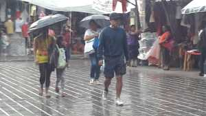 lluvia en la capital