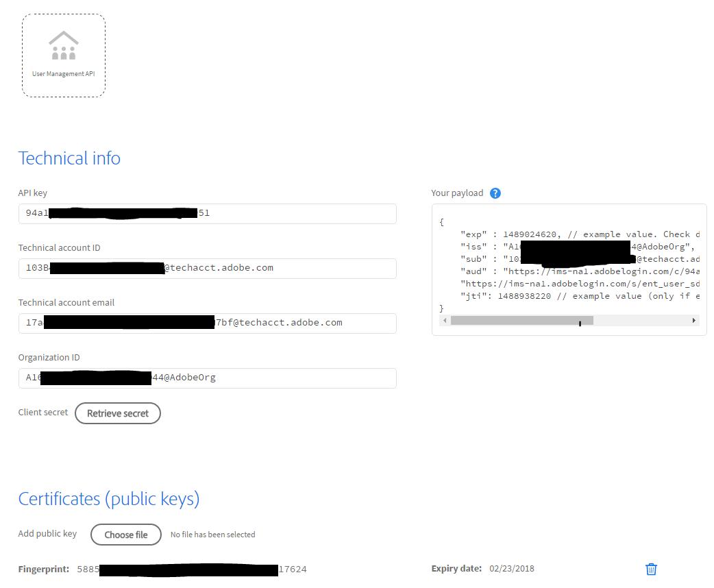 Setup an Adobe.io Integration
