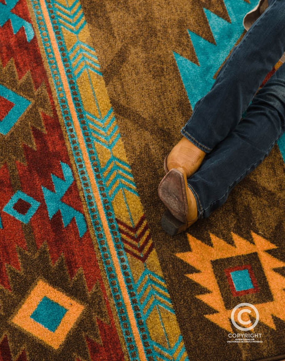 Whisky River Turquoise Area Rug Lowest Price Free Sh