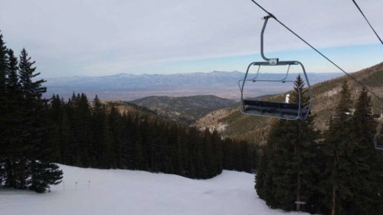 A view from a ski lift at Ski Santa Fe in Santa Fe National Forest's Sangre de Cristo Mountains. (Photo Source: Jennifer Hiller /San Antonio Express-News)