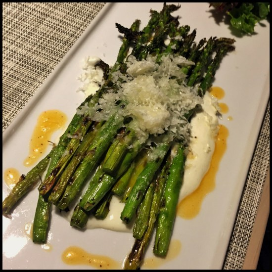 Eloisa's Wood-Grilled Asparagus Salad (Source: Geo Davis)