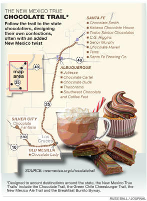New Mexico True Chocolate Trail Map
