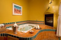 Puerta Cobre | Private Entrance and Jacuzzi Tub with Fireplace
