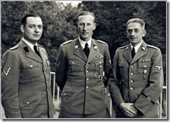 Horst Bohme, Hedrich and Karl Hermann Frank in Prague[1]