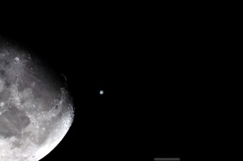 Conjunction moon and jupiter
