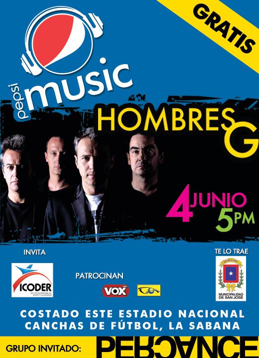 Percance y Hombres G en Costa Rica - Adondeirhoy.com