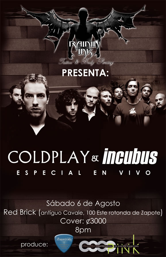 Concierto Especial Coldplay e Incubus - Adondeirhoy.com