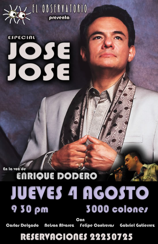 Tributo a Jose Jose en Costa Rica - Adondeirhoy.com