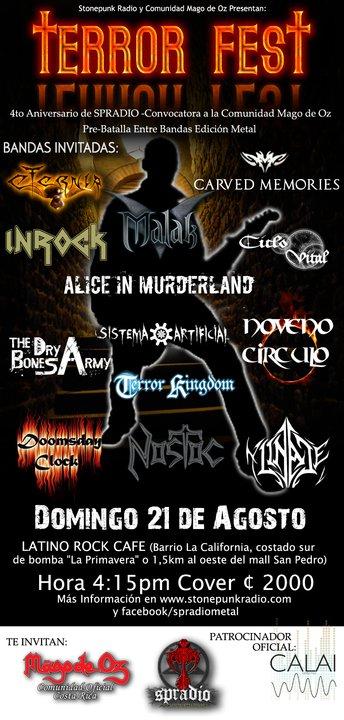 Costa Rica Terror Fest - Adondeirhoy.com