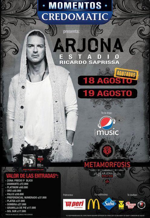 Ricardo Arjona en Costa Rica 2012