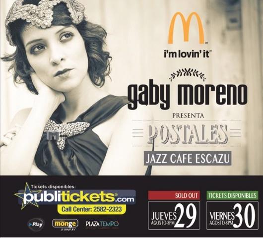 Gaby Moreno en Concierto con Cañas