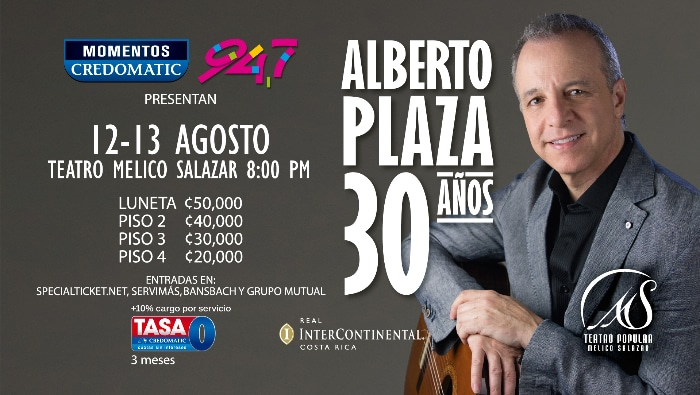Concierto Alberto Plaza en Costa Rica 2015