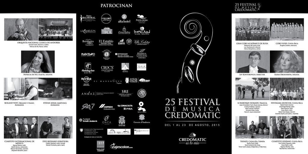 Festival de Música Credomatic 2015 - 25 aniversario Costa Rica