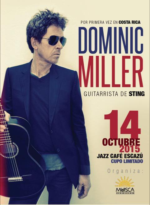 Concierto de Dominic Miller en Costa Rica