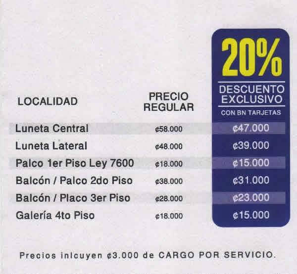 Precio de las entradas al concierto de Diego el Cigala en Costa Rica